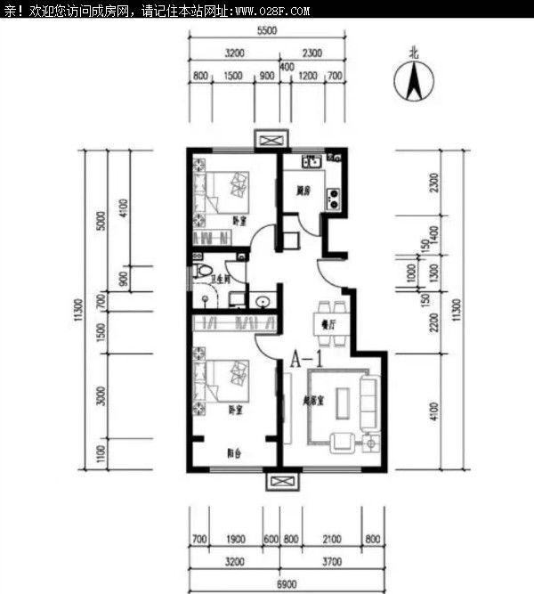 华阳景茂城果 户型图