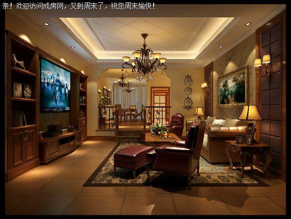 成都别墅装修公司设计美式风格案例