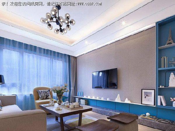 希望家里有温馨舒适居家环境,所以风格定位于北欧混搭风格案例,客厅图片