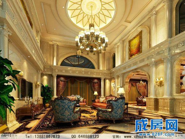 别墅,面积600多平米,豪华欧式风格为主