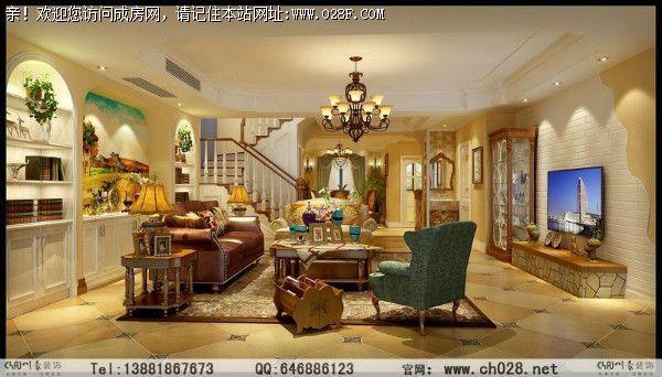 中华家园跃层-美式休闲装修图
