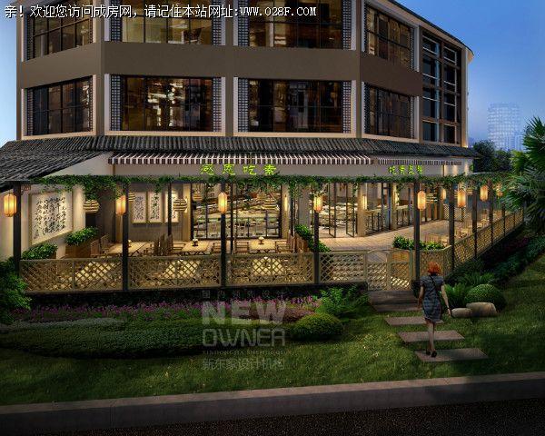 成都素食餐厅设计案例,素食餐厅设计效果图