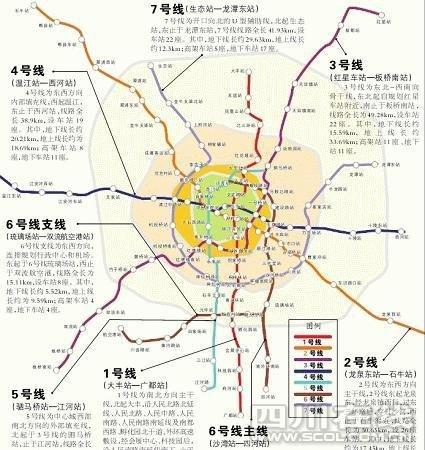 规划》图:1—7号共7条地铁线纵横交错,织成一张覆盖成都主城区乃至图片