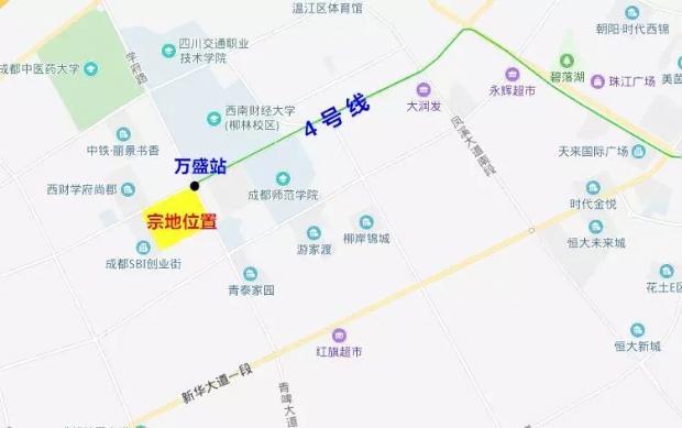 成都轨道集团拿地 温江万盛TOD项目提上日程